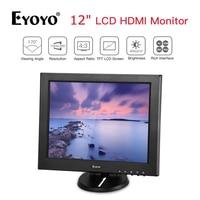 Eyoyo 12 inch 1024x768 TFT LCD HD Monitor HDMI VGA AV BNC For PC CCTV Security Hdmi Monitor Portable vga Monitor CCTV Screen