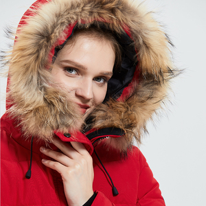 Image 5 - Tiger Force Winter Womens Parka Windproof Women Thick Coat European Style Womens Warm Jacket with Real Fur Hooded