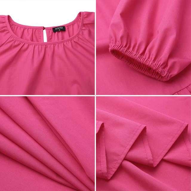 пляжное длинное платье vonda 2021 повседневное женское однотонное фотография