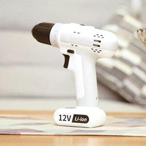 Image 2 - Youpin sans fil électrique sans fil perceuse à percussion 12V 25NM lumière LED tableau magnétique Portable pour le travail à domicile intelligent