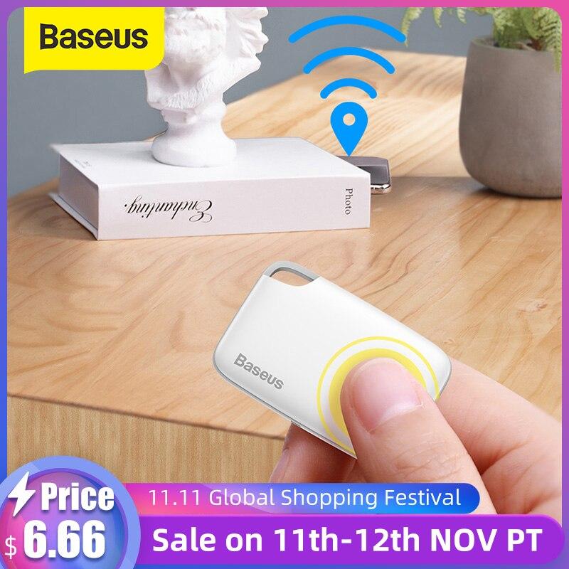 Беспроводной смарт-трекер Baseus, анти-потерянный будильник, брелок для поиска ключей, Детская сумка, кошелек, приложение для поиска, GPS Запись, анти-потерянная сигнализация, бирка