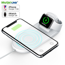 10W Wireless Charger 2 in 1 Qi Fast Charging Pad Stand For Apple Watch 4 3 iPhone X XS Max XR Sumsung S9 Desktop