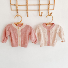Coat Cardigan-Coat Clothing Girls Knitted Kids Children New Autumn Spring 0-2yrs Pure-Color