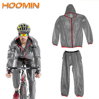 HOOMIN Impermeable Rain Cover Suit Raincoat Bicycle Rainsuit Rainwear Rain Gear Motorcycle Household Merchandises 2 Colors