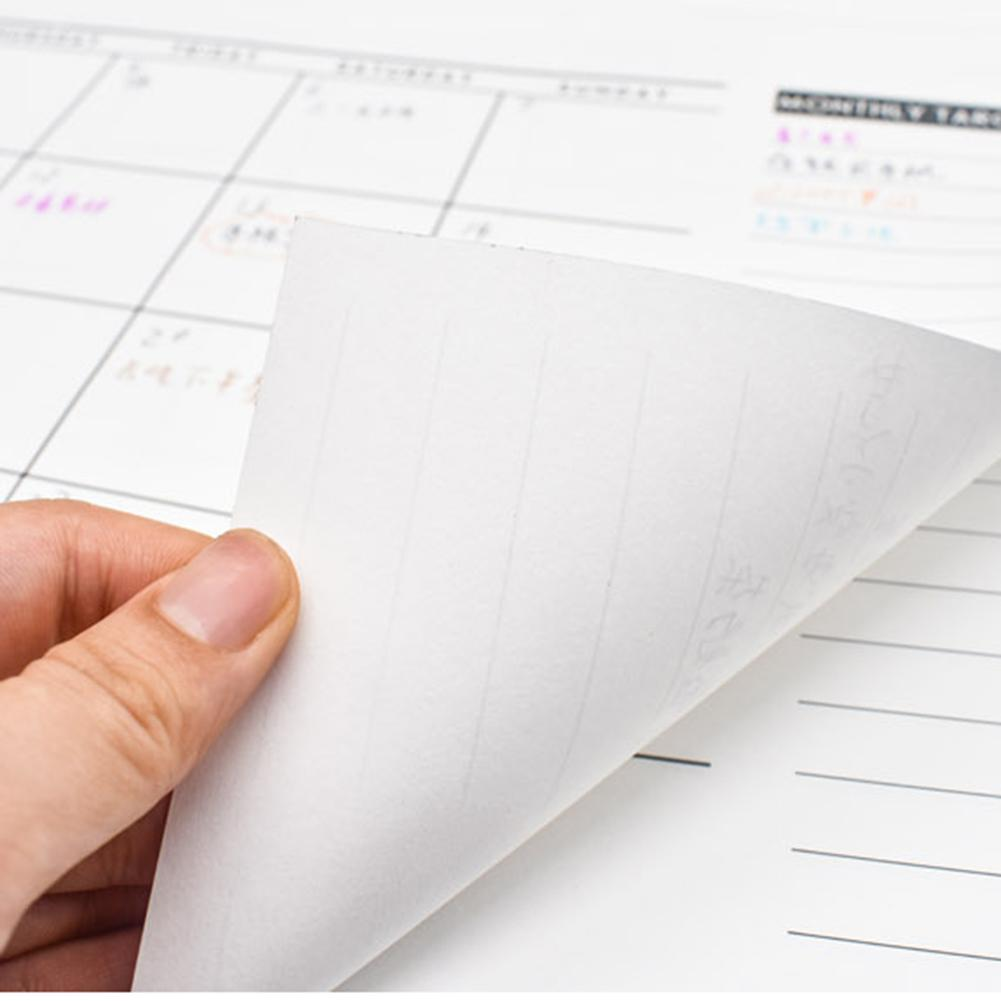 2020 Simple Monthly Schedule Board A3 Plan Paper Schedule Calendar Memo Month/Week/Day Holes Internal Pages