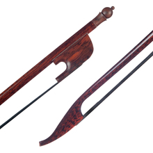 Professional 4/4 Cello Bow Snakewood Bow Black Horsehair Round Stick Snakewood Frog Durable Use