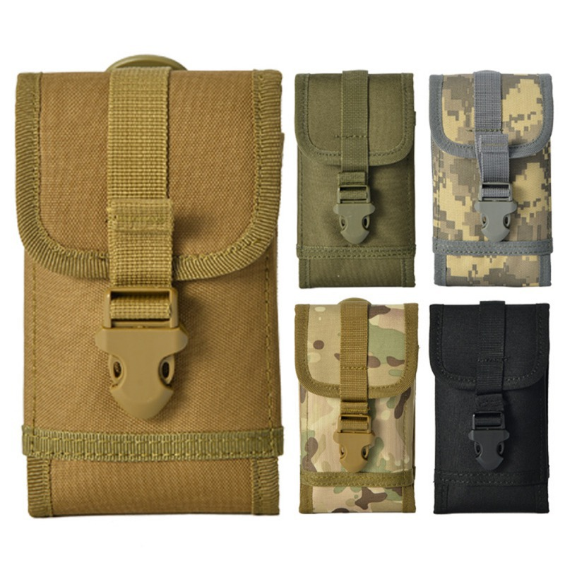 17x9x2cm Tactical Outdoor Military Molle Utility Waist Bag Hunt Accessories Phone Belt Pouch Cell Phone Holder Mobile Phone Case