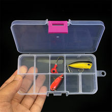 High quality Portable 10/15/20 grid Bait Organizer Box Fishing Lures Case Tackle Storage Fisher Gear Bulk strong plastic Drop(China)