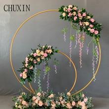 Düğün sahne ferforje yuvarlak halka kemer duvar yapay çiçek dekorasyon ev tatil kutlama düğün fotoğrafçılığı raf