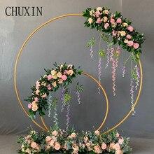 Rekwizyty ślubne kutego żelaza okrągły pierścień łuk ściana sztuczna dekoracja kwiatowa strona główna święto uroczystości fotografia ślubna półka
