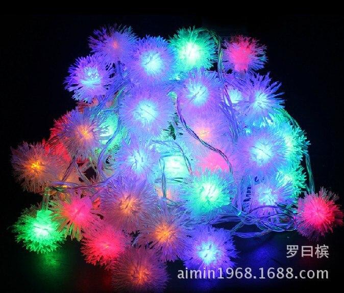 Festival spécial 10 mètres queue insérer cheveux flocon de neige boule fenêtre éclairage ciel étoile LED lumières décoratives en plein air étanche
