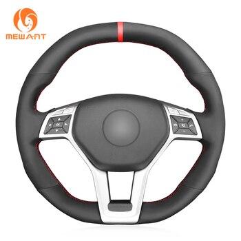 MEWANT черный синтетический замшевый чехол рулевого колеса автомобиля для Mercedes Benz A 45 AMG 2013 2015 CLA 45 C 63 AMG CLS 63 AMG 2012 2013