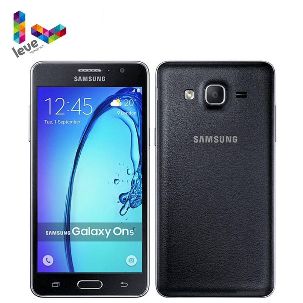 Разблокированный Samsung Galaxy On5 SM-G5500 Dual SIM мобильный телефон 5,0