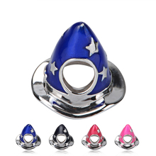 SG 925 silver color Enamel hat charms beads collection Fit original pandora bracelet DIY jewelry making gifts 4 color available sg 925 sterling silver cute cock charms beads animal collection fit original pandora bracelet pendant fashion jewelry for gifts