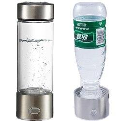 Podwójnego zastosowania bogaty generator wody wodorowej SPE elektroliza energia bogaty w wodór przeciwutleniacz ORP H2 jonizator wody butelka pp