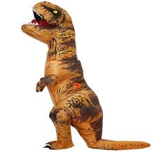 Adulto traje de dinossauro inflável t rex cosplay festa traje de halloween trajes para homens mulheres anime fantasia vestido terno