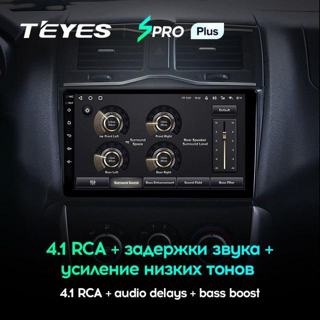 TEYES SPRO Plus Штатная магнитола For Лада ВАЗ Гранта Кросс For LADA Granta Cross 2018 - 2019 Android 10, до 8-ЯДЕР, до 4 + 64ГБ 32EQ + DSP 2DIN автомагнитола 2 DIN DVD GPS мультимедиа автомобиля головное устройство 4