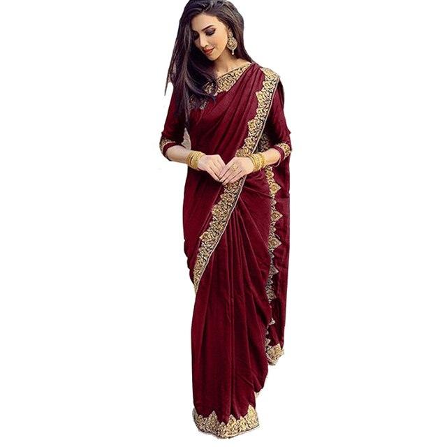 Indian Dress Women Islam Traditional Plus Size Lace Indian Saree Decoration Elegant Dress Hindu For Women Vestido Indiano - 028 6