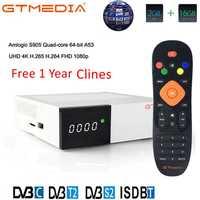 GTmedia GTC Receptor Android 6.0 TV BOX DVB-S2 DVB-C DVB-T2 Amlogic S905D 2GB 16GB +1 Year Clines Satellite TV Receiver TV Box