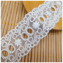19 Yards white embroidery delicate polyseter hight quality delicate bridal dress lace belt trim border DIY sewing lace white delicate lace mini slip dress