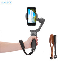Adjustable Lanyard Safety Wrist Strap Protection for DJI Osmo Mobile 3 PU Leather Strap with Base Handheld Gimbal Accessories handheld gimbal adapter switch mount plate for gopro 6 5 4 3 3 yi 4k camera for dji osmo for feiyu zhiyun smooth q gimbal