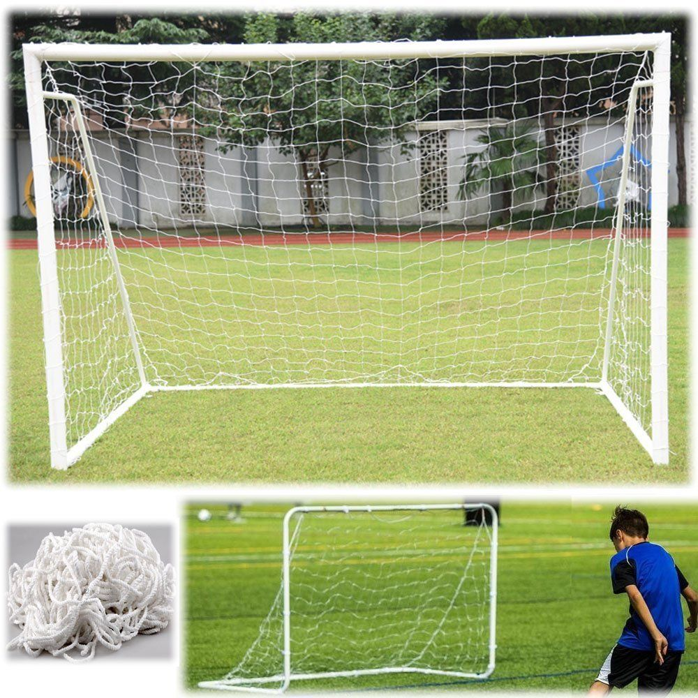 Hot Full Size Football Net For Soccer Goal Post Junior Sports Training Football Net Soccer Net  Sports Training Match Adult Kid