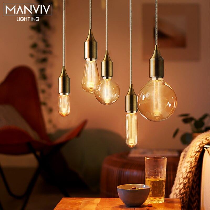Retro Edison Light Bulb E27 220V DST64 DT45 DG80 DG95 DG125 Fairy Vintage Edison Lamp Retro Decoration Lights For Coffe Shop Bar