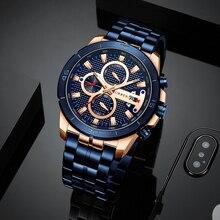 2019 New CURREN Casual Steel Belt Fashion Quartz Watch Mens Top Luxury Brand Waterproof Clock Relogio Masculino