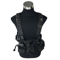 Longrui Light Weight Utility Tactical Hunting Chest Rig D3 Carrier Military Pouch Vest for Army Paintball Airsoft Shooting
