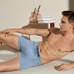 Image 3 - 4Pcs/lot Mens Underwear Men Boxer Panties Polyester Mens Underwear Boxershorts Men Boxers Solid Shorts Brand Underpants CM001