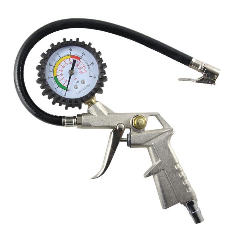 Auto Tire Pressure Gauge For Pressure Gun Type For Air Compressor Durable Car Motorcycle SUV Inflator Pumps Tire Repair Tools