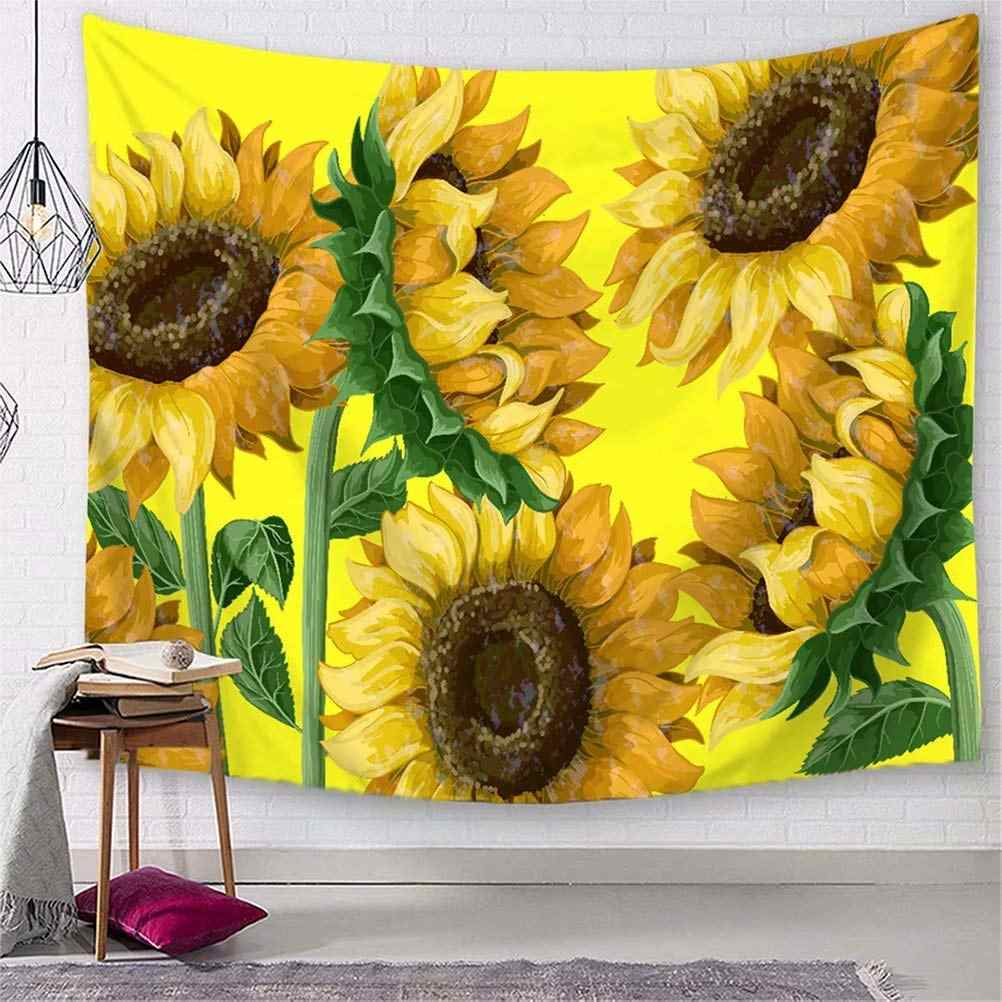 Painting Sunflower Tapestry Wall Hanging Flower Patterned Tapestry Home Decor