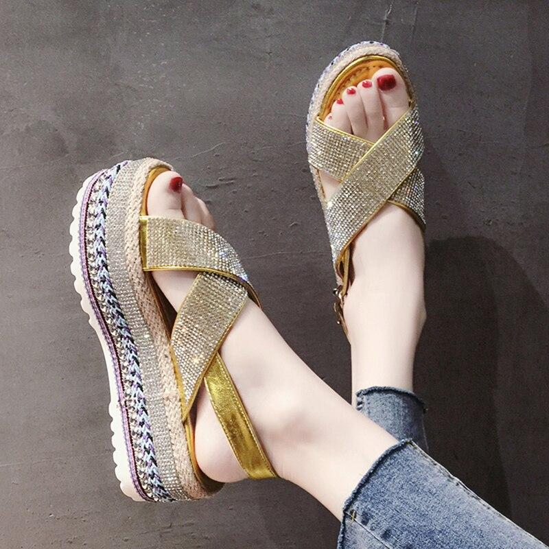Sexy Open-toed Women Sport Beach Sandals Wedge Hollow Out Women Sandals Outdoor Cool Platform Shoes Women Shoes