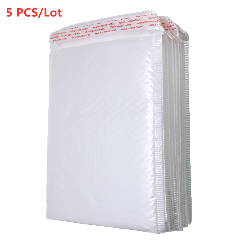 Hot Sale5 PCS/Lot White Foam Envelope Bag Different Specifications Mailers Padded Shipping Envelope With Bubble Mailing Bag