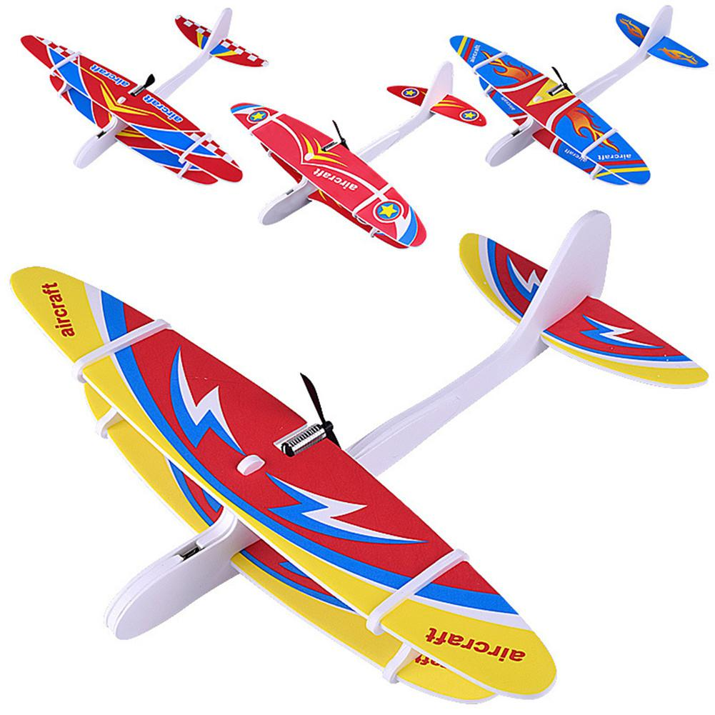 LeadingStar Biplane Glider Foam Powered Flying Plane Rechargeable Electric Aircraft Model Science Educational Toys For Children