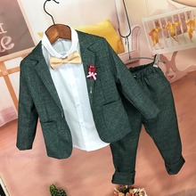 Boys Suit 2020 Spring New Korean Casual Children Girl Suits