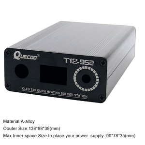 Image 5 - T12 STC OLED 납땜 스테이션 철 diy 부품 키트 T12 952 디지털 온도 컨트롤러 금속 케이스와 납땜 인두