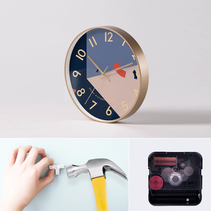 Image 3 - Youpin Yuihome Decor Wall Clock 30.5cm Mirror Glass Surface Art Geometric Patterns Home Mute Clock for Smart Home