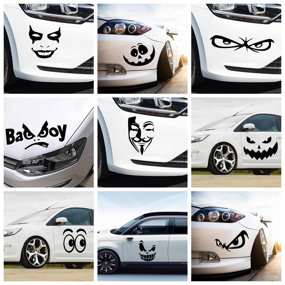 Креативные автомобильные наклейки странных выражений, креативные виниловые наклейки на автомобильные наклейки, наклейки на окна, стильные...