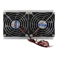 Thermoelektrische Peltier Kälte Kühlsystem Kit Kühler Doppel Fan DIY auf