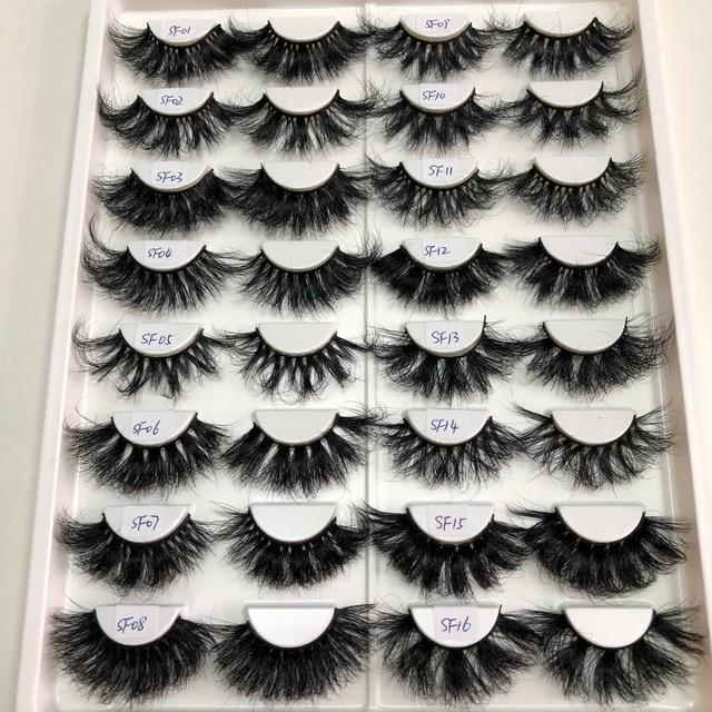 Buzzme Volume Mink Lashes Dramatic Fluffy 25mm Long Eyelashes Messy Reusable Cruelty Free Eye Lash 6