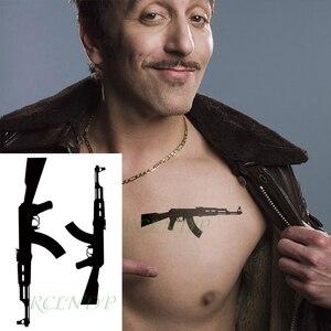 Водонепроницаемая Временная тату-Наклейка Черная машинка тату флэш-тату поддельные татуировки для мужчин и женщин