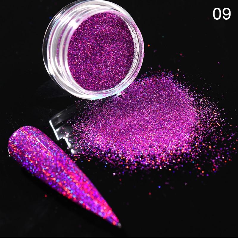 Rose Gold Bubble Mirror Powder Metallic Nail Glitter Holographics Chrome Dust Sparkling Flakes Pigment Manicur Nail Art Decor 9