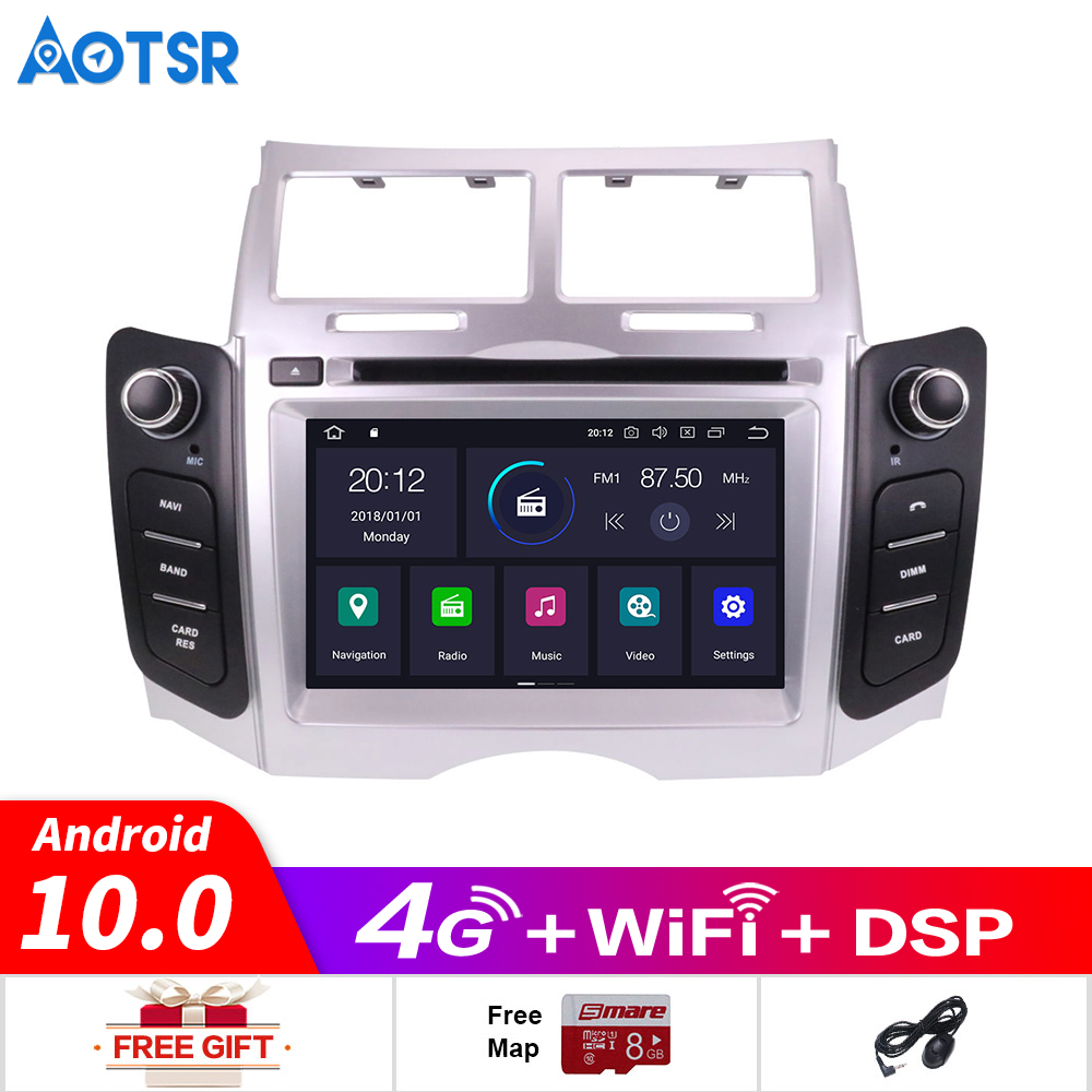 Android 10.0 Car DVD Stereo Multimedia Headunit For TOYOTA YARIS 2005-2011 Auto PC Radio GPS Navigation Video Audio Car Gps Navi