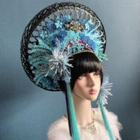 Exaggerated large performance hat for women stage singer accessories fashion photographic studio hat model headpiece carnival
