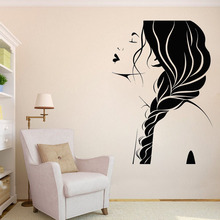 Wall Decal Window Sticker Beauty Salon Woman Face Hair Hairstyle Style Decoration LW530