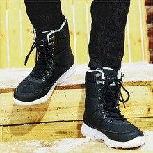 Мужские ботинки; коллекция года; зимняя обувь; Мужские Водонепроницаемые зимние ботинки с теплым плюшем; зимняя обувь для мужчин и женщин; повседневные ботинки; кроссовки унисекс