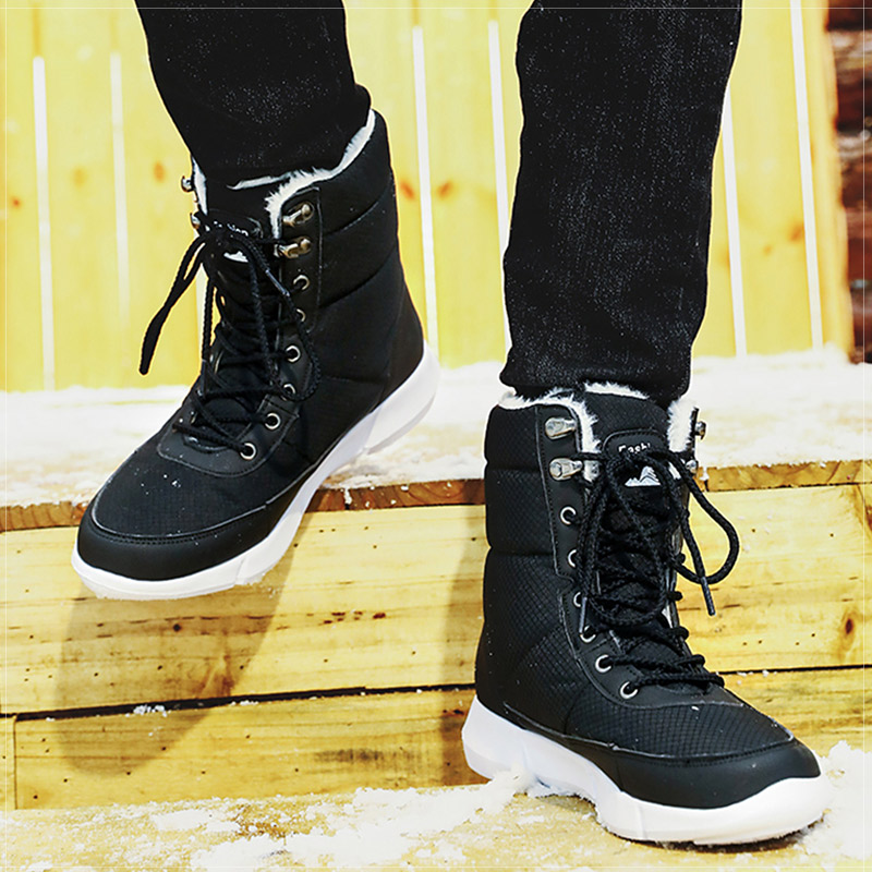 Men Boots 2019 Winter Shoes Men Waterproof Snow Boots With Warm Plush Winter Footwear Male Women Casual Boot Sneakers Unisex image