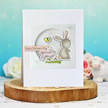 2020 New Easter Rabbit Metal Cutting Dies and Stamps Set Scrapbooking Craft Dies Set Embossing Stencils naifumodo feather clear stamps and metal cutting dies scrapbooking 2019 new making cards craft dies set embossing decor stencils