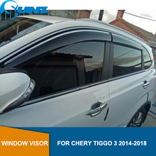 Deflectores de ventana lateral para coche Smoke para CHERY Tiggo 3 2014 2015 2016 2017 2018 toldos refugio protectores accesorios SUNZ